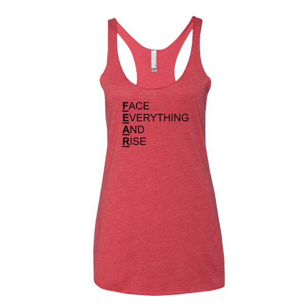 F.E.A.R., Ladies Triblend Racerback Tank - STATEMENT APPAREL  - 3