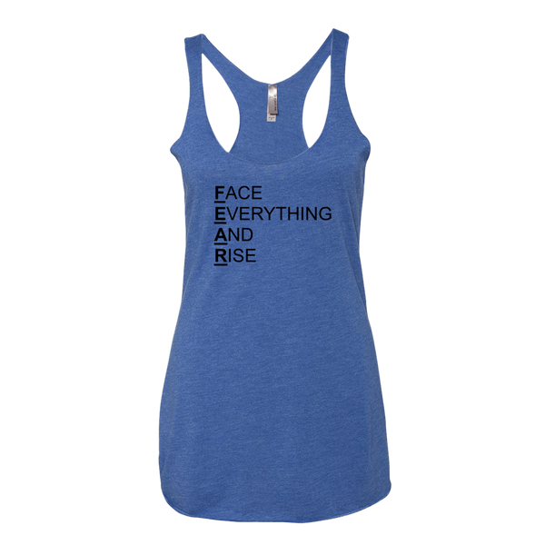 F.E.A.R., Ladies Triblend Racerback Tank - STATEMENT APPAREL  - 4