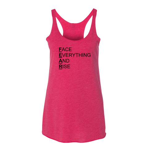 F.E.A.R., Ladies Triblend Racerback Tank - STATEMENT APPAREL  - 1