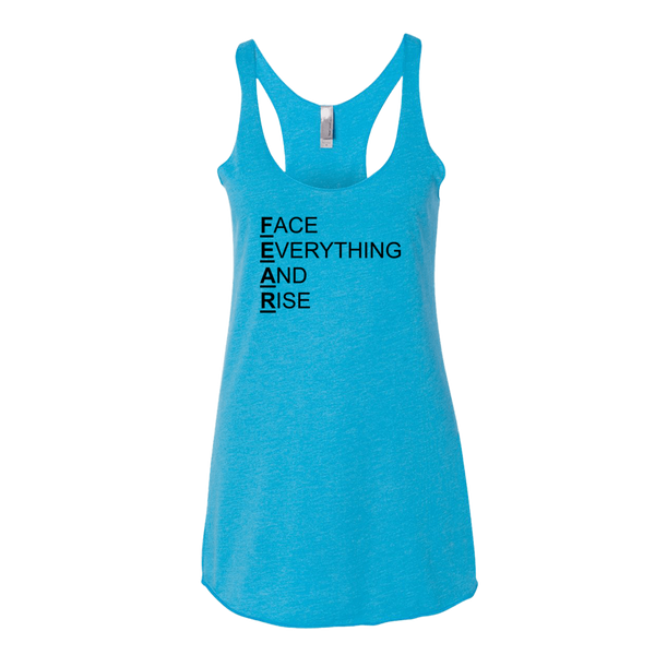 F.E.A.R., Ladies Triblend Racerback Tank - STATEMENT APPAREL  - 2