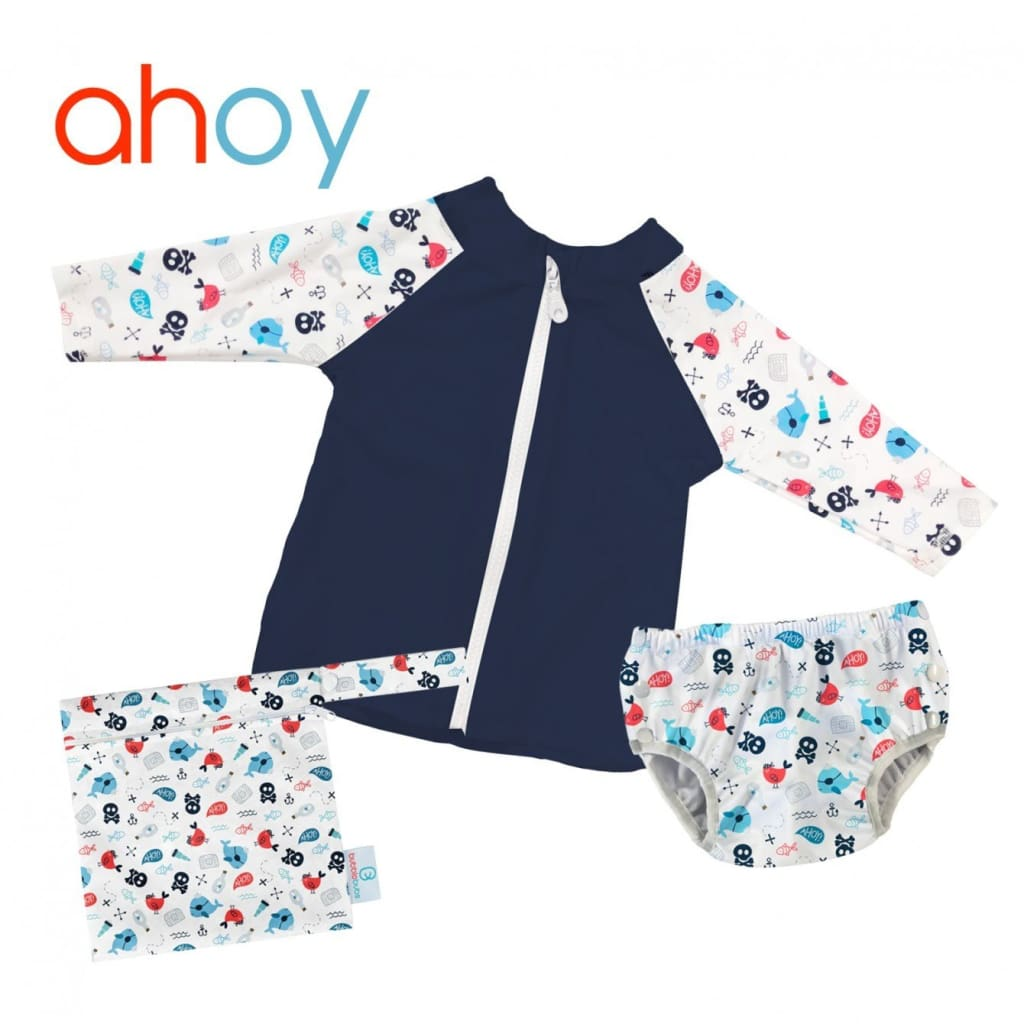 Ahoy Rash Vest and Swim Nappy Set - XS - Wear>Babies>Boys