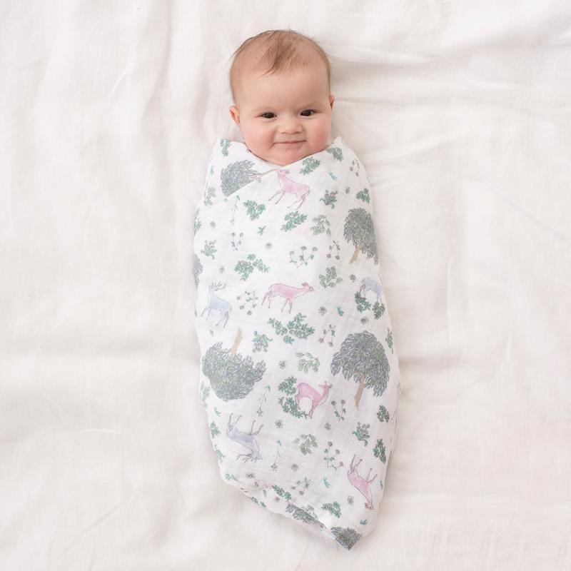 Classic Muslin Swaddles 2pk - Forest Fantasy - Muslins Wraps & Swaddles