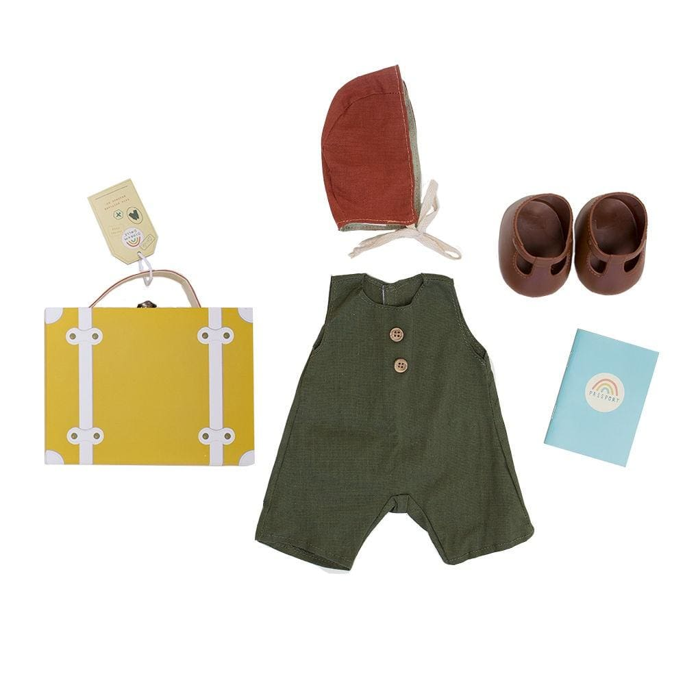 Dinkum Doll Travel Togs - Mustard - Play>Dolls & Clothing