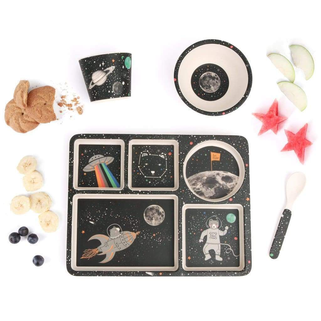 Divided Plate Set - Space Adventures - Eat>Dinner Sets