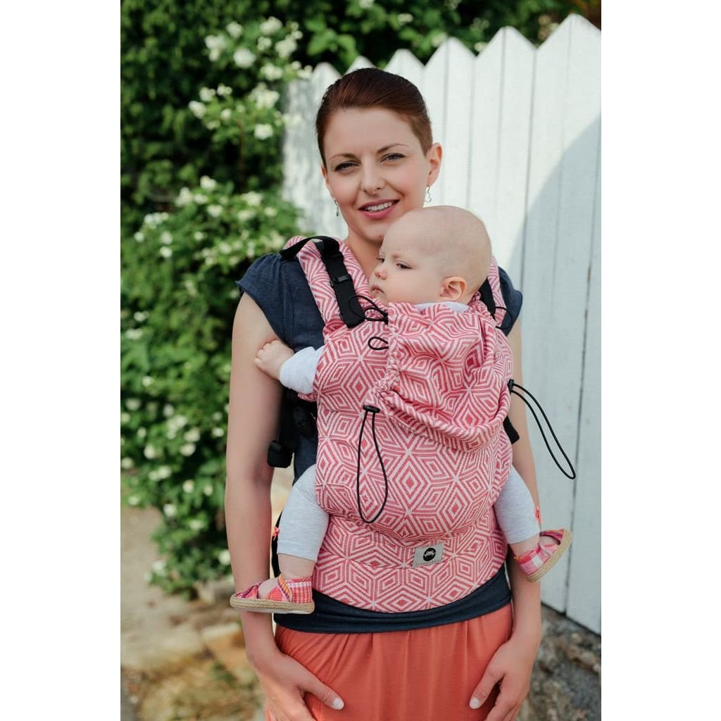 Little Frog Baby Carrier - Red Cubes (jacquard) - General