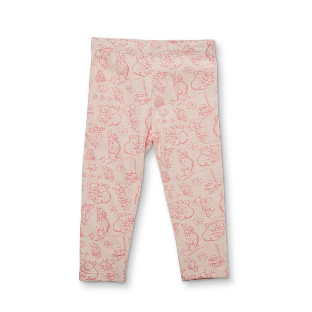 May Gibbs Luna legging - Blush Blooms - Wear>Babies>Girls