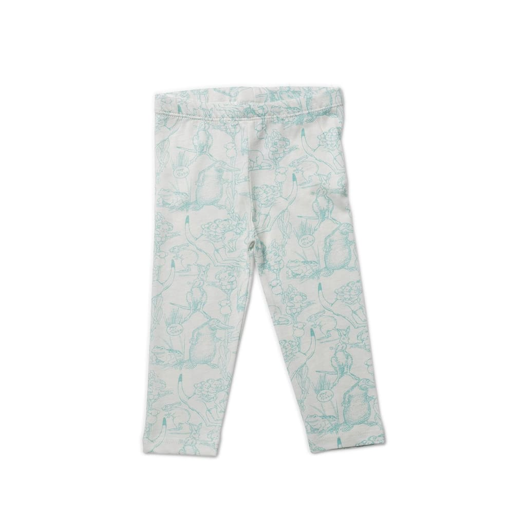 May Gibbs Luna Legging- Bush Dance Sage - Wear>Babies>Neutral
