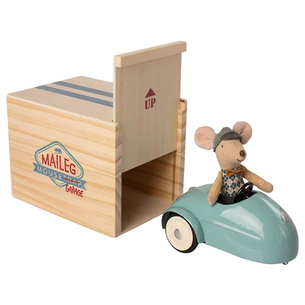 Mouse Car & Garage Blue - play