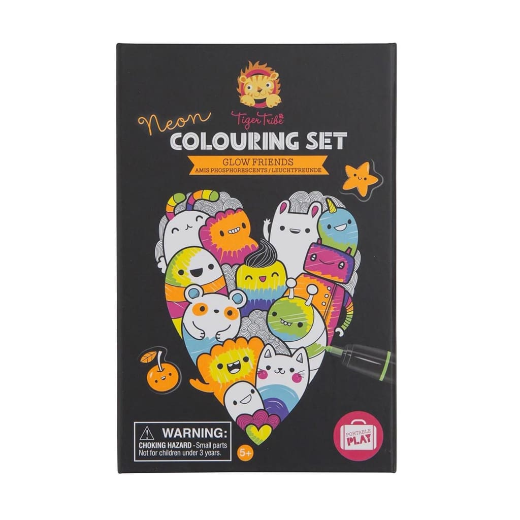 Neon Colouring Set - Glow Friends - play