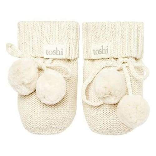 organic Baby Booties Cream - Wear>Babies>Footwear