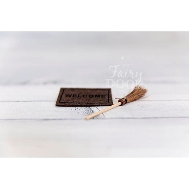 The Fairy Door Store - Welcome Mat & Broom - Play>Fairies