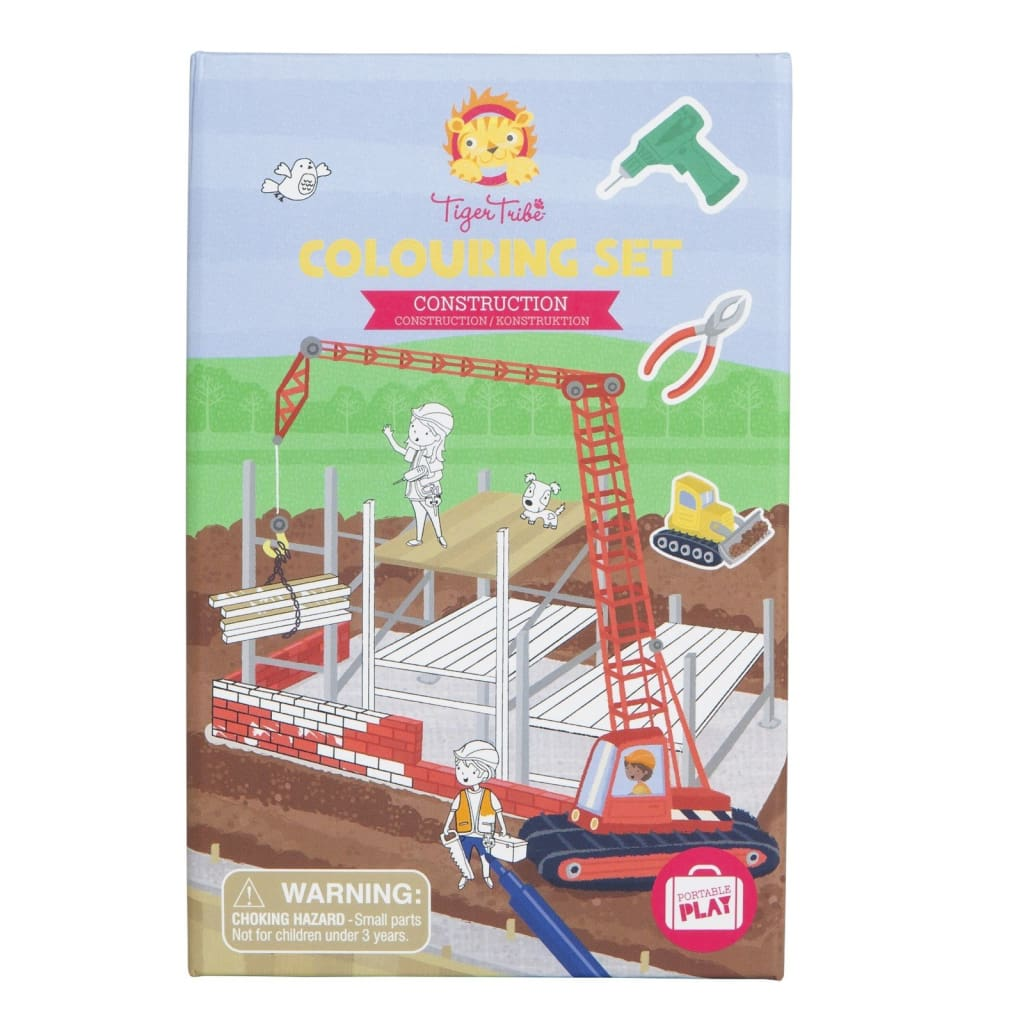 Tiger Tribe - Colouring Set - Construction - Play>Craft & Colour
