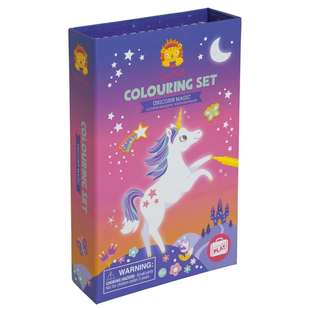 Tiger Tribe - Colouring Set Unicorn - play