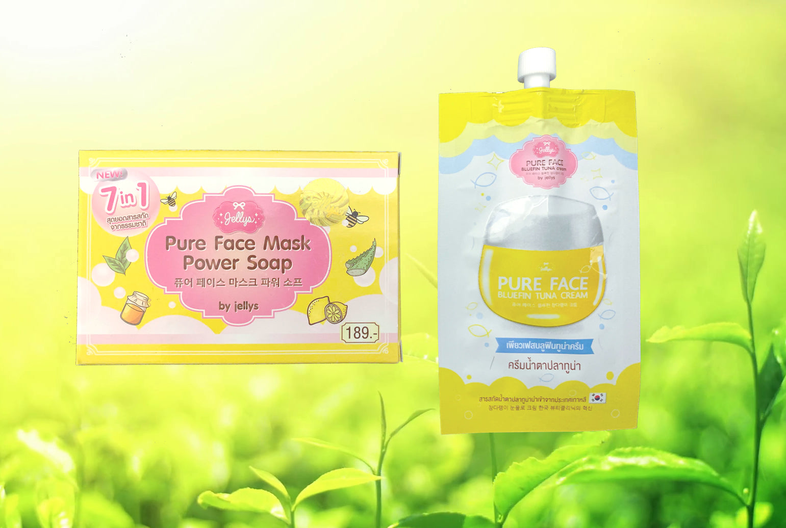 Pure Face Y Bluefin Tuna Pilaten Sonora Jellys Mask Power Soap