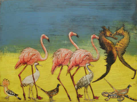 Flamingos and Friends