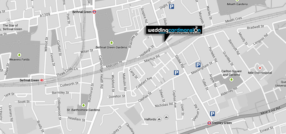 Map of Wedding Card Mansion London