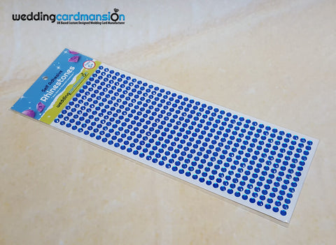 Blue Self Adhesive Rhinestones
