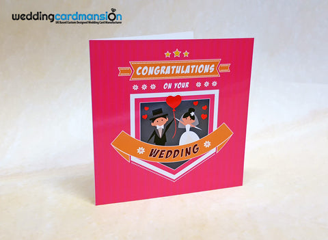 Congratulations on your wedding card.
