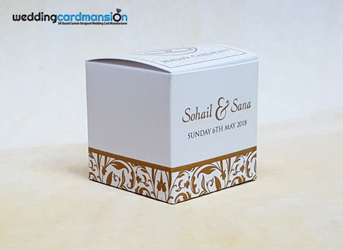 Personalised favour box. FB006