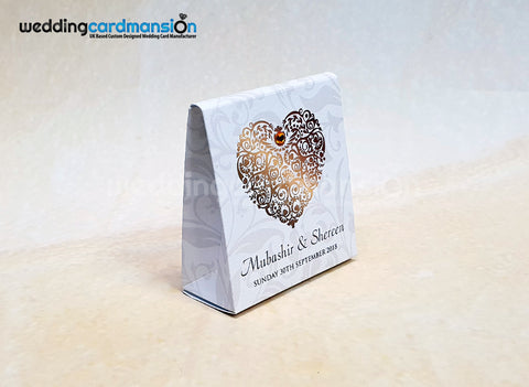 Favor boxes to compliment your wedding cards.