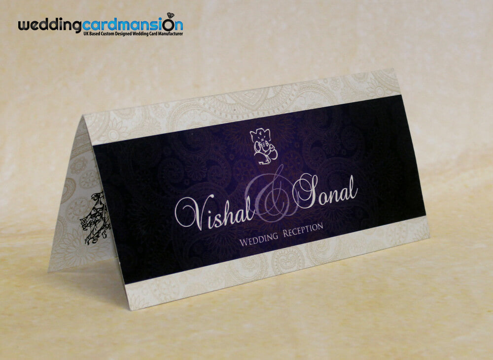 Purple Folded Hindu Wedding Invitation Hc007 Wedding Card Mansion