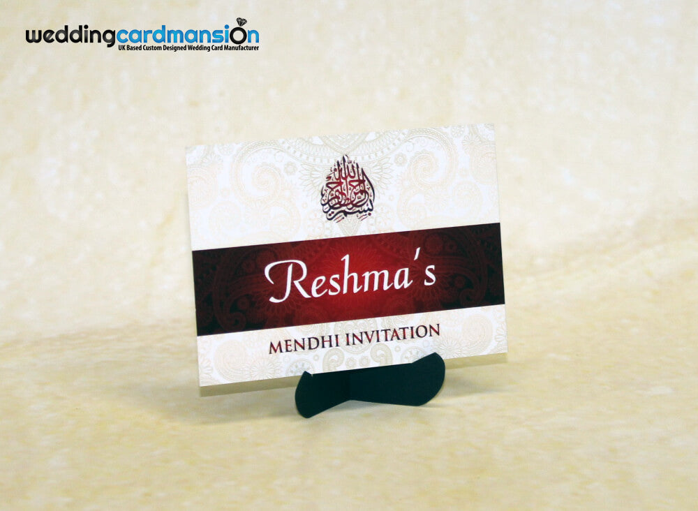 Mendhi Card MC001 - Wedding Card Mansion