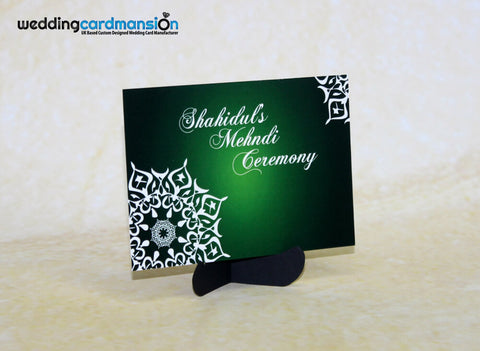 Mendhi Card MC003 - Wedding Card Mansion