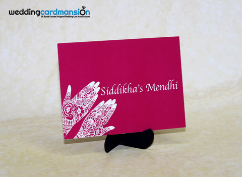 Mendhi Card MC005 - Wedding Card Mansion