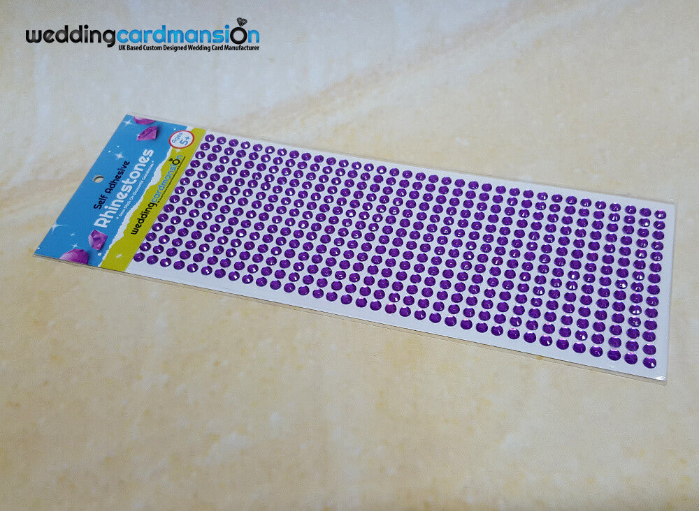 Purple Self Adhesive Rhinestones.