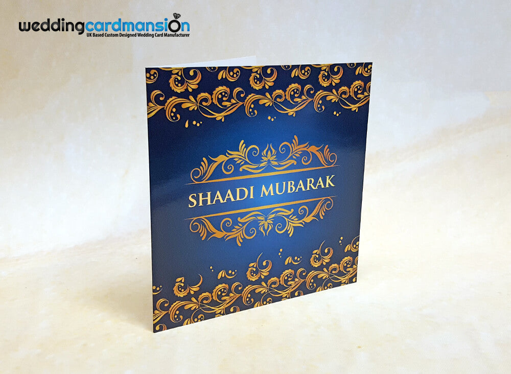 Gold foiled Shaadi Mubarak Greeting Card