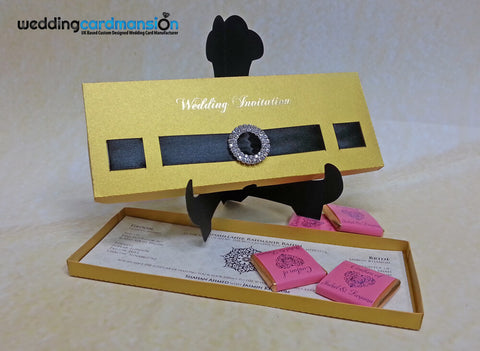 Laser cut box style wedding invitation. WC262 - Wedding Card Mansion