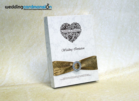 Box wedding invitation. WC315 - Wedding Card Mansion