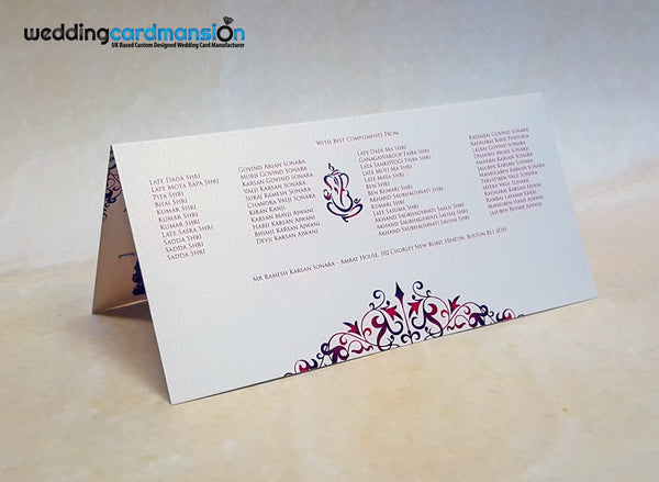 Ganesh foiled wedding invitation. WC392