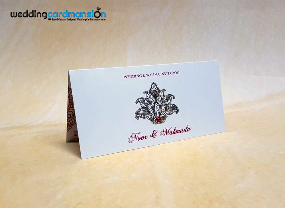 Floral foiled wedding invitation. WC405