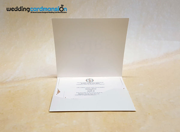 Ivory wallet wedding invitation. WC410