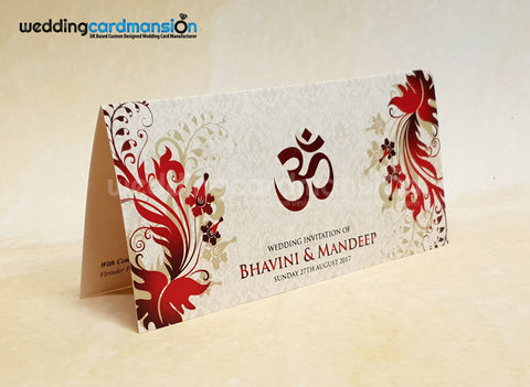 Om wedding invitation. WC415