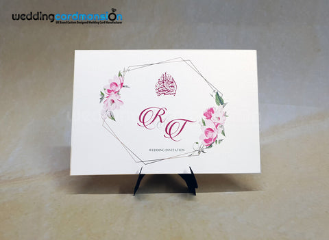 A5 floral wedding invitation. WC455