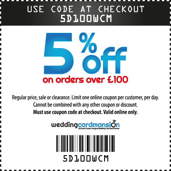 5% off on orders over £100