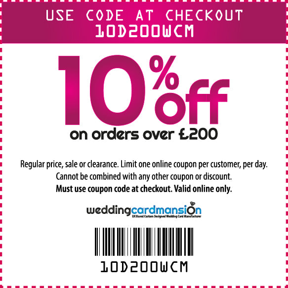 10% off on orders over £200
