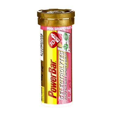 PowerBar 5 Electrolytes - Tube of 10-  Pink Grapefruit Caffeinated (75mg)