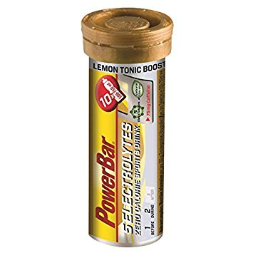 PowerBar 5 Electrolytes - Tube of 10-  Lemon Tonic Boost Caffeinated (75mg)