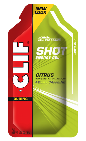Clif Bar Shot Gel Citrus Caffeine 25mg