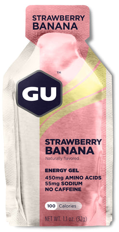 Gu Energy Gel (24x32g) - Strawberry Banana - Bikenut - 1