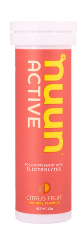 Nuun Active Electrolytes - Citrus Fruits - Tube of 10 Tabs - Bikenut - 1