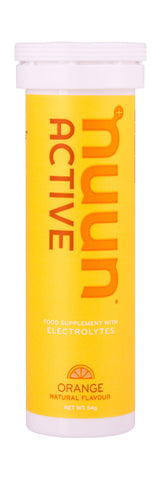Nuun Active Electrolytes - Orange Flavour- Tube of 10 Tabs - Bikenut - 1
