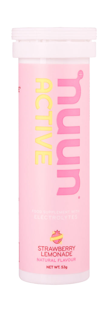 Nuun Active Electrolytes - Strawberry Lemonade - Tube of 10 Tabs - Bikenut - 1