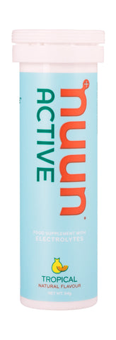Nuun Active Electrolytes - Tropical Flavour - Tube of 10 Tabs - Bikenut - 1