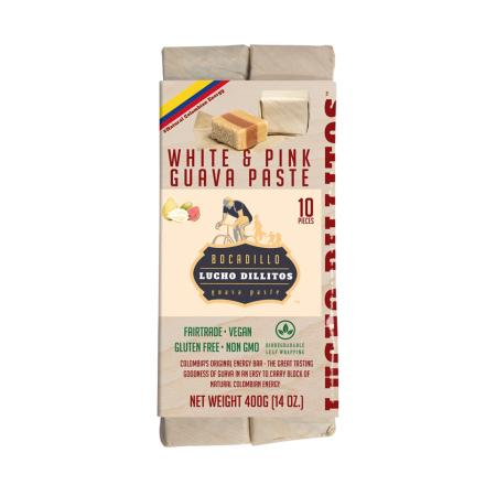 Lucho Dillitos Bocadillo's - Colombian Guava Energy Bar - White & Pink 10 pack