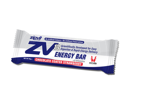 Zipvit ZV8 Energy Bar - Chocolate Coated Strawberry - Bikenut - 1