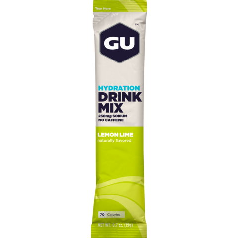 Gu Hydration Drink Mix - 24 Serving Stickpack - Lemon & Lime